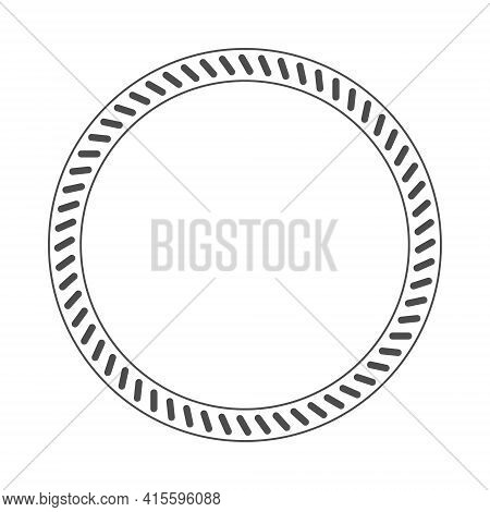Ring Of Short Sloping Lines. Vector Illustration For Design. Flat Style.