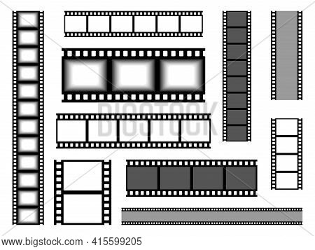 Film Strip. Realistic Cinema Tape. Blank Bands For Recording Video Or Shooting Photographs And Showi