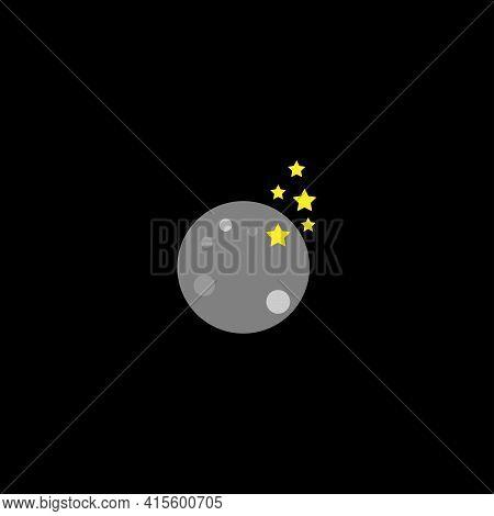 Moonlight Astronomy Symbol %26 Icon Logo Vector Template