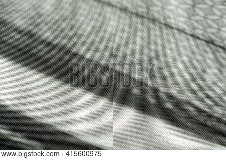 Abstract Composition With Sun Shadows On A Light Background. Sun Daylight. Selective Focus. No Peopl