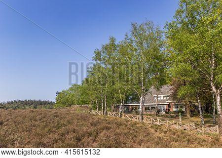 Lemele, Netherlands - April 27, 2020: Restaurant At The Lemelerberg Hill In Overijssel, Netherlands