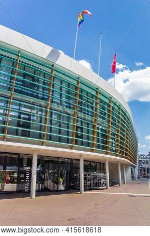 Assen, Netherlands - May 30, 2020: Modern Building Of The Town Hall Of Assen,netherlands