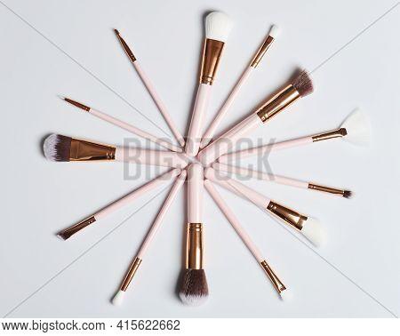 Circle Of Make Up Brushes
