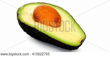 avocado isolated on white isolated