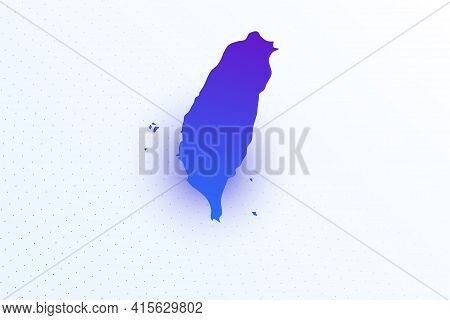Map Icon Of Taiwan. Colorful Gradient Map On Light Background. Modern Digital Graphic Design. Light