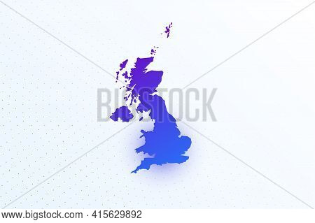 Map Icon Of United Kingdom. Colorful Gradient Map On Light Background. Modern Digital Graphic Design