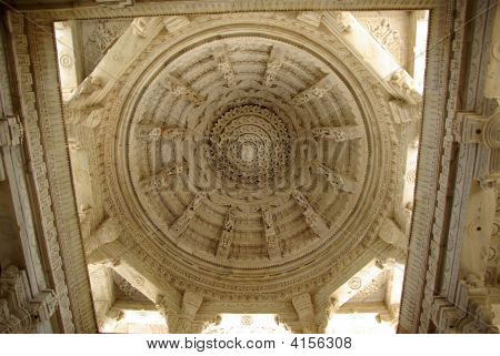 Ceiling In Ranakpur Temple, Rajasthan