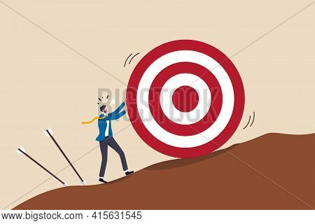 Missed Target, Failure Or Obstacle, Difficulty In Work That Hard To Achieve Target Or Set Too High O