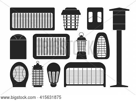 Insect Trap Vector Black Set Icon. Vector Illustration Flytrap On White Background. Isolated Black S