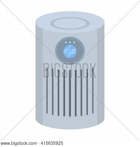 Air Purifier Vector Illustration In Flat Style On Isolated White Background.