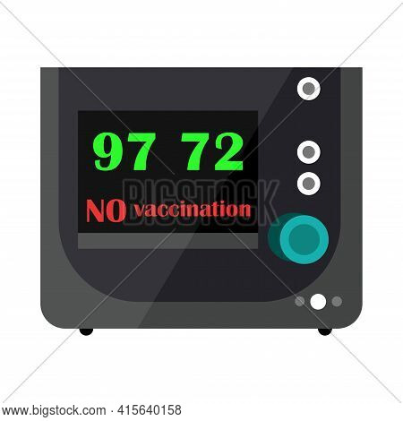 Resuscitation Equipment Labeled No Vaccination. Emergency Unit. Refusal To Vaccinate