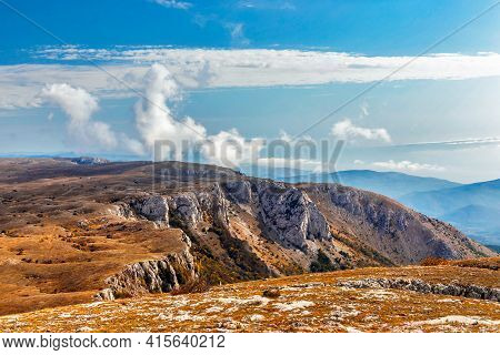 Landscape With A Plateau In The Mountains Of Crimea