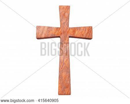 3d Render Classic Shape Simple Cross Bevel, Jesus, Bury, Prayer, Devotion, Spiritual, Catholic, Symb