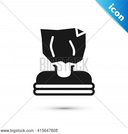 Grey Kidnaping Icon Isolated On White Background. Human Trafficking Concept. Abduction Sign. Arreste