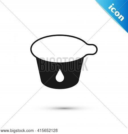 Grey Yogurt Container Icon Isolated On White Background. Yogurt In Plastic Cup. Vector