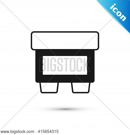 Grey Fuse Of Electrical Protection Component Icon Isolated On White Background. Melting Breaking Pro