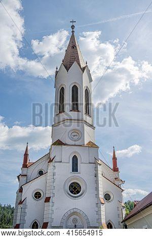 Evangelic Church In Lubietova Village, Slovak Republic. Architectural Theme.