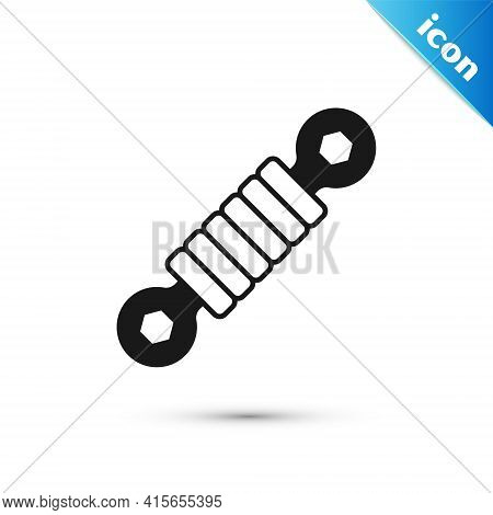 Grey Shock Absorber Icon Isolated On White Background. Vector