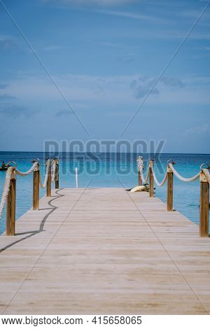 Curacao Caribbean Island, Kokomo Beach Views Around The Caribbean Island Of Curacao On A Bright Day