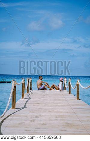Curacao Caribbean Island, Kokomo Beach Views Around The Caribbean Island Of Curacao On A Bright Day,