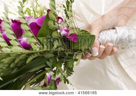 Flower's Bouquet Of A Bride