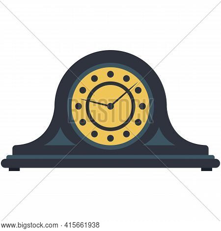 Clock Vector Old Vintage Wood Clockwork Illustration