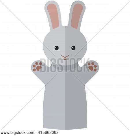 Vector Bunny Hare Hand Puppet Doll For Theatre Show