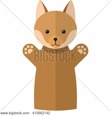 Vector Red Fox Hand Puppet Doll For Theatre Show