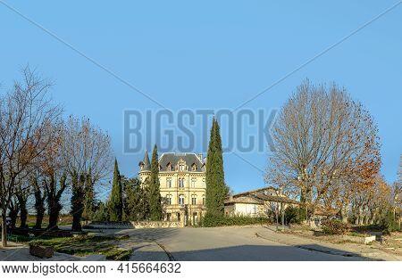 Charleval, France - December 10, 2015: Castle Charleval In France On A Sunny Day. History Dates Back