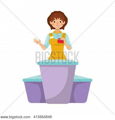 Isolated Object Of Baker And Table Logo. Collection Of Baker And Woman Stock Vector Illustration.