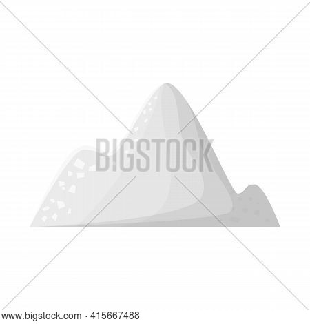 Vector Illustration Of Cocain And Pile Sign. Graphic Of Cocain And Powder Vector Icon For Stock.