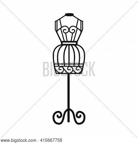 Vector Design Of Dummy And Vintage Logo. Graphic Of Dummy And Body Stock Symbol For Web.