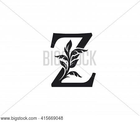 Classic Letter Z Heraldic Logo. Vintage Classic Ornate Letter Vector.