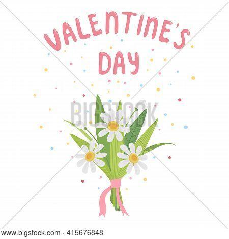 Valentines Flower Bouquet Icon. Cartoon Of Valentines Flower Bouquet Vector Icon For Web Design Isol