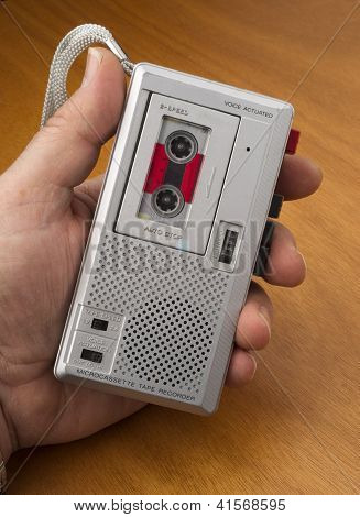 Audio Recorder Using Tape The Old Fashioned Way