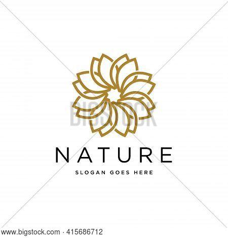 Nature Flower Logo Premium Vector Premium Design