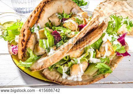 Pita Wrapped Gyros Sandwich