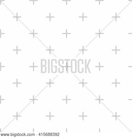 Light Grey Fashion Seamless Geometric Monochrome Cross Pattern. Ornament Can Be Used For Gift Wrappi