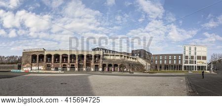 Bochum, Germany - February 23, 2021: View Of The Jahrhunderthalle, A Former Industry Building Servin