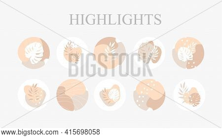 Set of vector icons for your business, scrapbooking, bullet journalling, instagram story buttons. Vector set design templates icons and emblems - social media story highlight.
