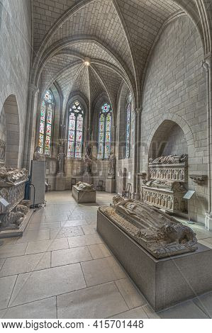 New York, Usa - Oct 22, 2015: People Visit The Sanctuary At The Cloisters Museum In New York, Usa. T