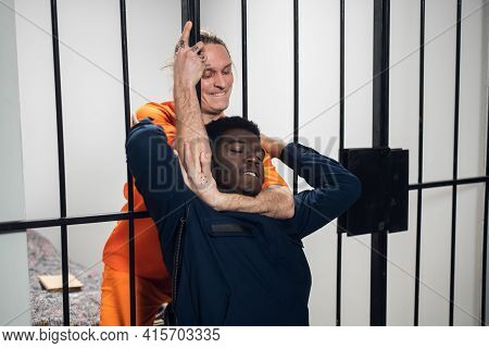 A Wild Homicidal Maniac Sentenced To Life In Prison Attacks The Warden And Strangles Him.