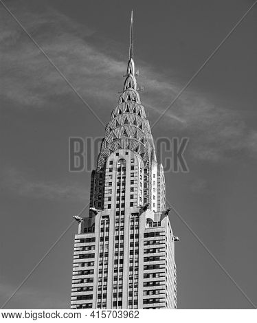 New York, Usa - Sep 5, 2013: Chrysler Building Facade  In New York, Was The World's Tallest Building
