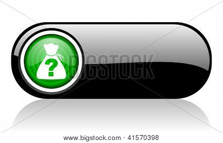 riddle black and green web icon on white background