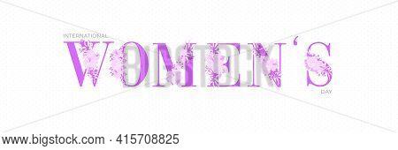 Purple Women Typographical Design Elements. International Women S Day Icon. Women S Day Symbol. Mini
