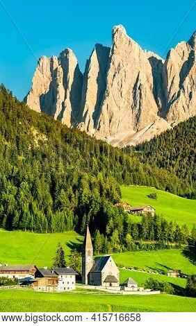 Chruch At Santa Maddalena - The Dolomites, Italy