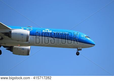 Amsterdam, The Netherlands - August, 7th 2020: Ph-bhh Klm Royal Dutch Airlines Boeing 787-9 Dreamlin