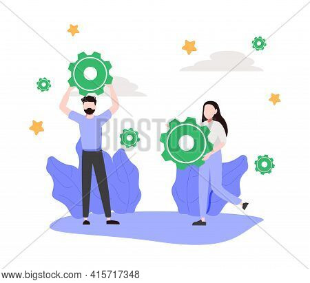 Business Growth Abstract Concept Vector Illustration. Goals, Motivation And Collaboration, Achieveme