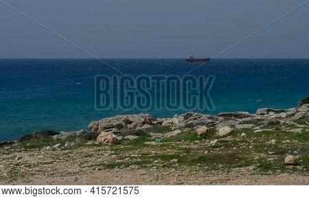 Shipwreck, Abandoned Ship Demetrios Ii, Mediteranian Sea, Cyprus