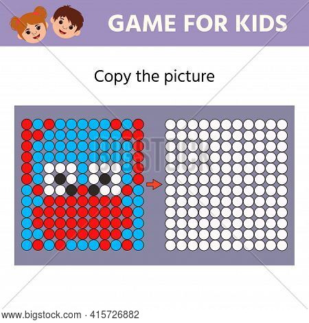 Education Logic Game For Preschool Kids. Copy The Picture. Crab. Learning Symmetry For Preschool Chi